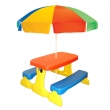 Masă pentru picnic cu umbrelă